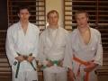 Zawodnicy od lewej: Szymon Stręk, Wojciech Bugajski, Patryk Mistarz